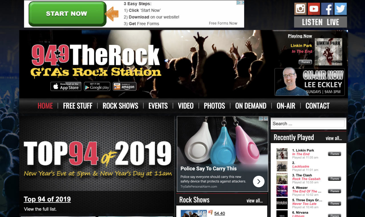 94.9 The Rock Features LACKLUSTRE - Jan 4 and 5, 2020